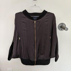 Zara charcoal bomber jacket